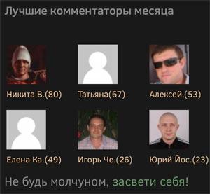 Лучшие комментаторы блога savme.ru