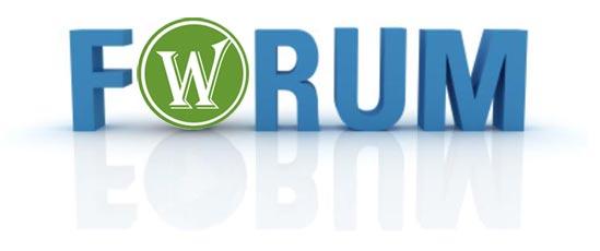 Вот такой вот forum на wordpress