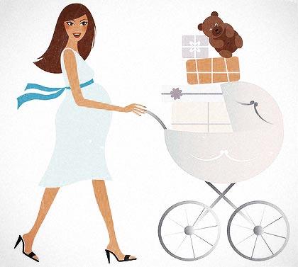 шоппинг с беременной