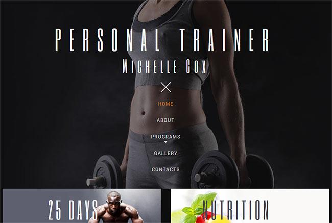шаблон частных фитнес-студий