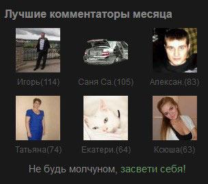 Итоги конкурса ТОП-комментатор