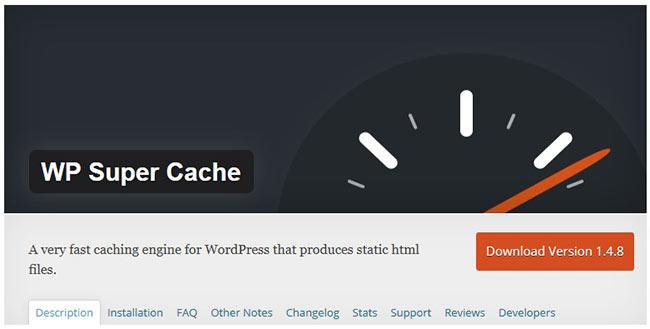 Кэширование на wordpress WP SUPER CACHE