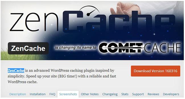 кэширования WordPress ZenCache